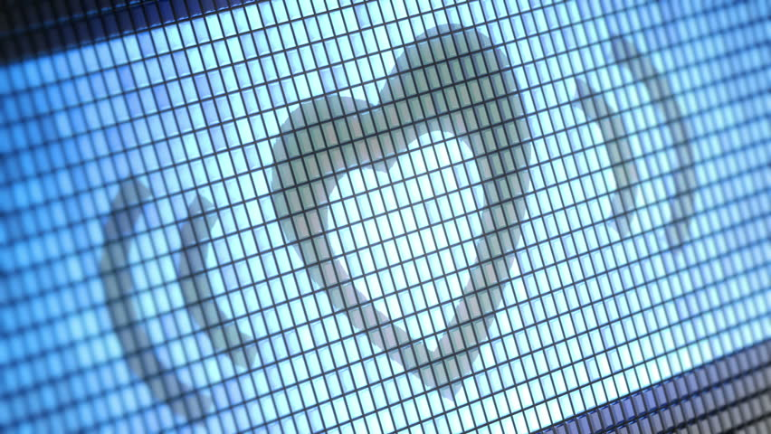 Heart shape on screen. Looping. - HD stock video clip