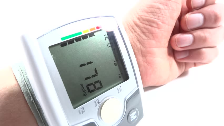hand with cardiac device - HD stock video clip
