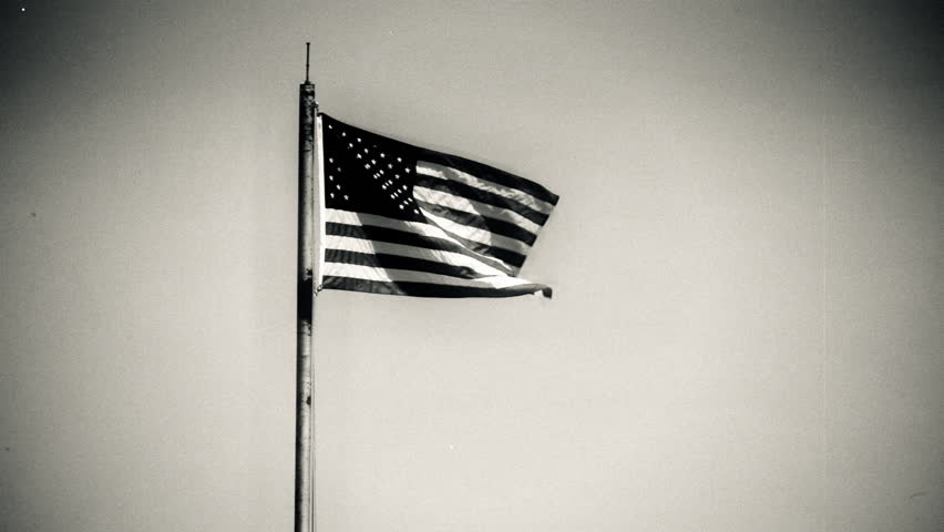 Vintage Flag and Pole. - HD stock footage clip