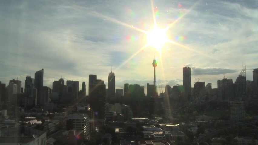 A New Day, Sunrise over Sydney, Cityscape Time Lapse - HD stock footage clip