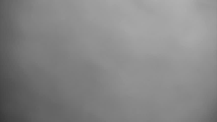 White steam fills screen over black background