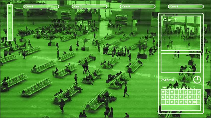 Surveillance in Nightvision look