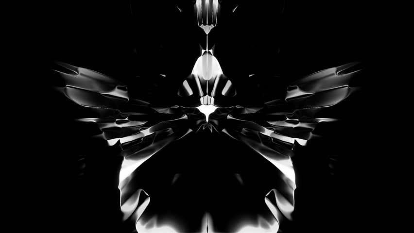 White Rorschach Ink blot test on black | Shutterstock HD Video #3874184