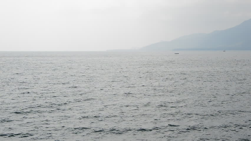 boat in the sea - HD stock footage clip