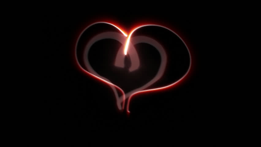Abstract Glowing Heart Time Lapse - HD stock footage clip
