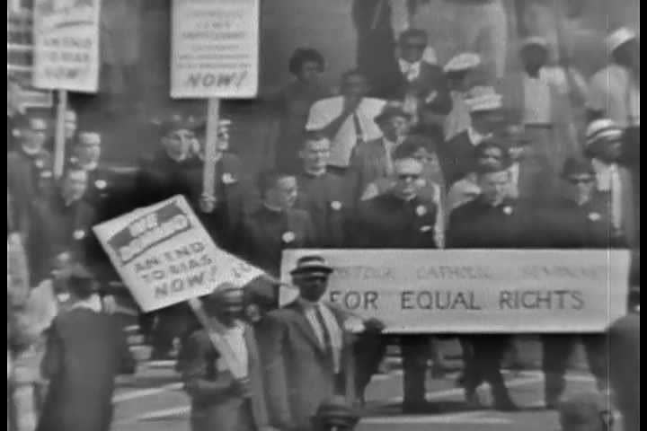 1960s - The 1963 March on Washington civil rights rally. - SD stock video clip