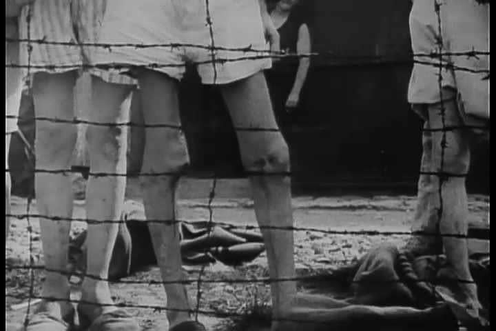 1940s - Footage of Arnstadt Buchenwald Nazi Concentration Camp victims. - SD stock video clip