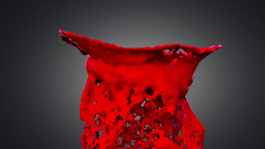 colorful drops of red paint colliding in slow motion (HD, high definition, 1080p, slowmotion) on dark background - HD stock footage clip