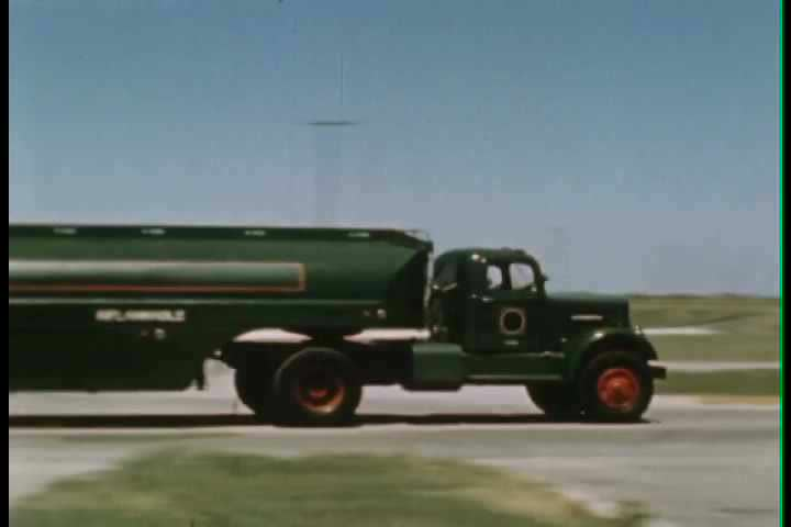 1950s - Oil drilling in this classic film about exploration. - SD stock footage clip