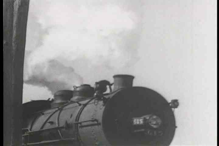 1940s - Musical montage of steam freight trains circa 1940.