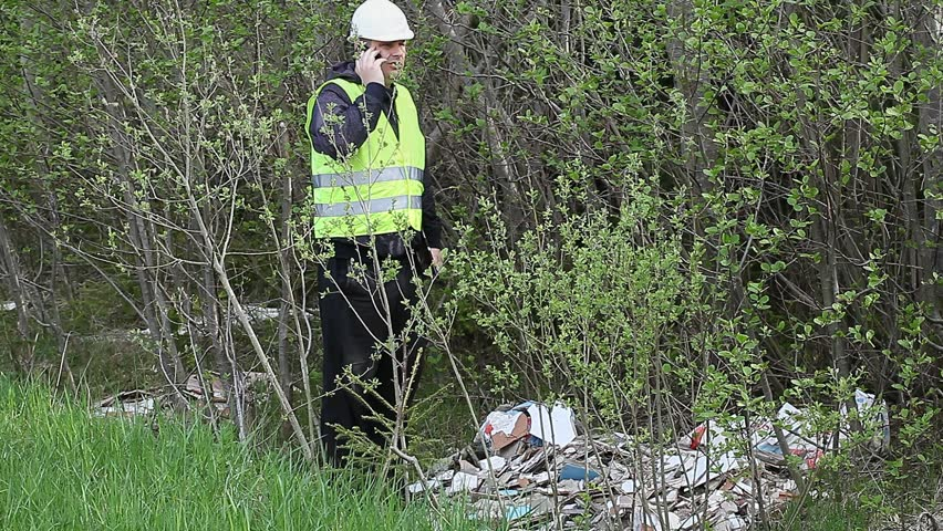 Environmental Officer  in forest near debris pile /episode 3/