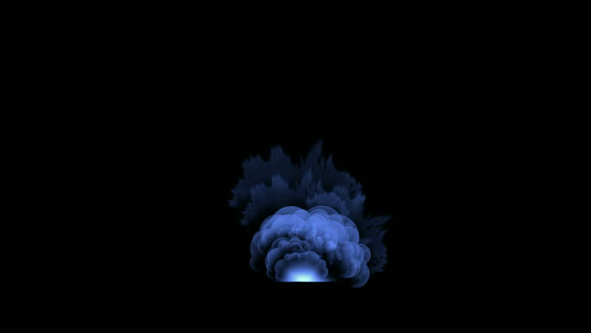 explosion atom nuclear in darkness,smoke and fire,war military scenes,power energy field,the end of world. - HD stock footage clip