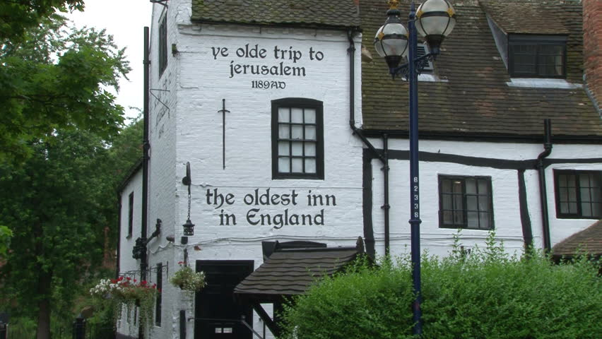NOTTINGHAM, UK - AUGUST 2012 :The Oldest Inn in England - the Ye Olde Trip to Jerusalem. - HD stock video clip