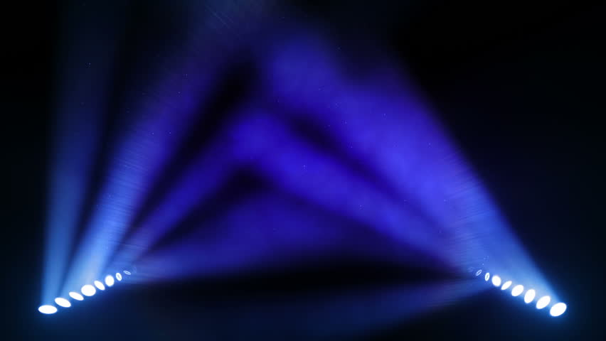 Bright stage lights flashing. Blue. SEE MORE OPTIONS IN MY PORTFOLIO. - HD stock footage clip