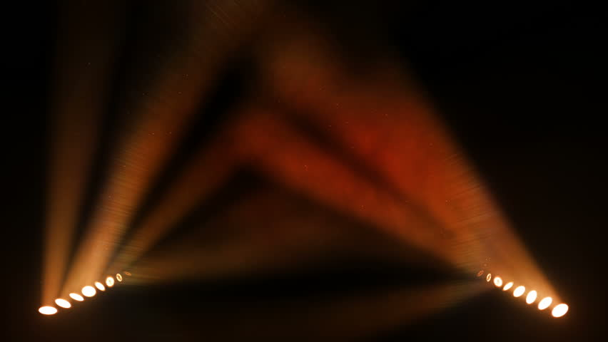 Bright stage lights flashing. Orange. SEE MORE OPTIONS IN MY PORTFOLIO. - HD stock footage clip