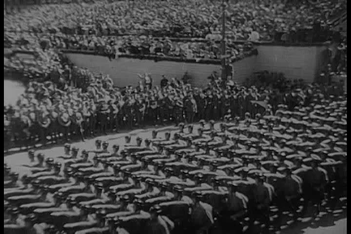 1960s - Nazi parade is watched over by Adolph Hitler. - SD stock video clip