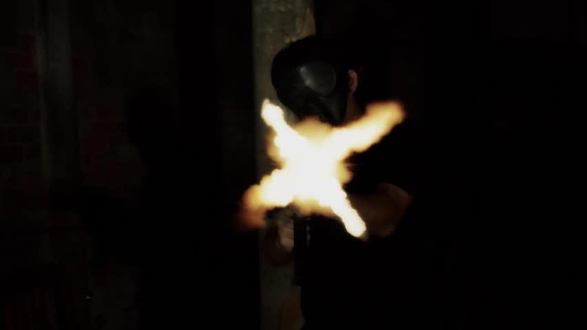 firing. - HD stock video clip