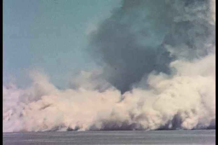 1960s - Ground and air bursts from an atomic explosion - SD stock footage clip