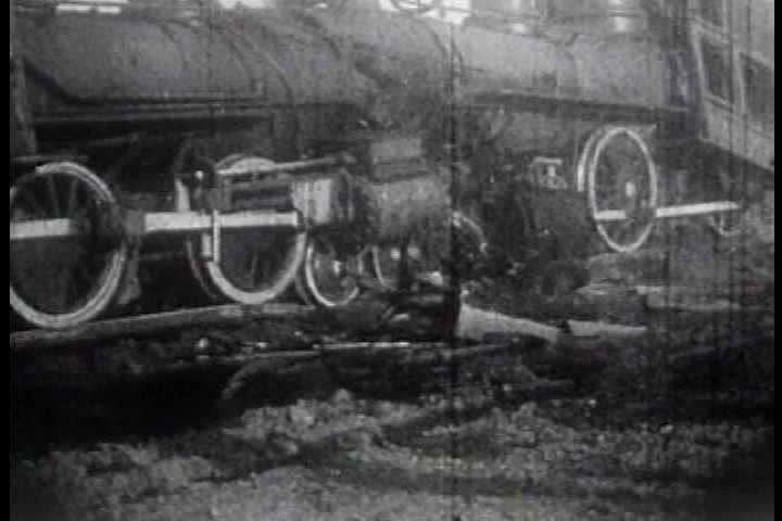 1910s - California State Fair highlights 1913 'Spectacular collision between two giant locomotives traveling at a speed of 90 miles an hour'