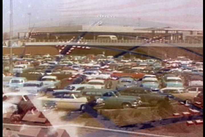 1950s - The motor car opens up America in the 1950s. - SD stock video clip