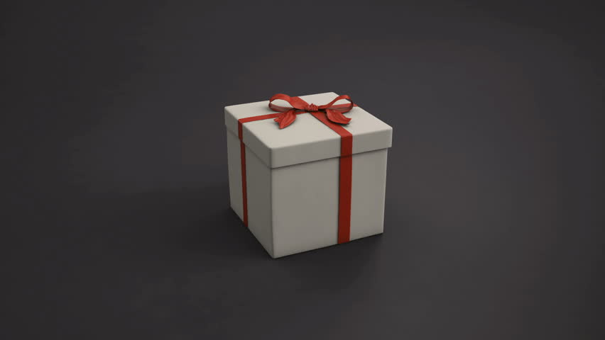 Gift Box Opening Lid To Present A Virtual Product Green