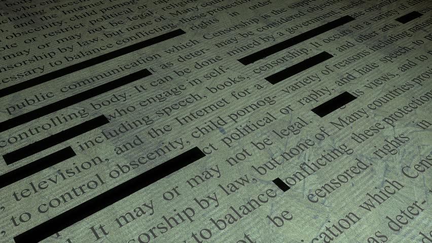 Information censorship. - HD stock video clip