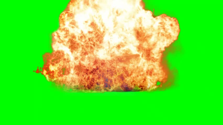 SUV Car Explode on green screen  - HD stock video clip
