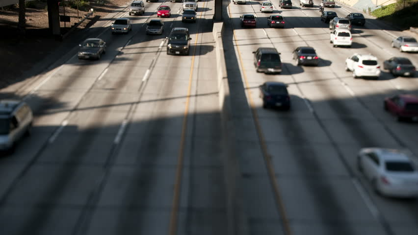 Time Lapse of Traffic in Downtown Los Angeles Daytime - Circa 2011 - HD stock video clip