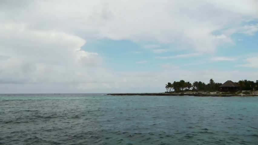 Tropical Coral Reef Beach Time Lapse - HD stock footage clip