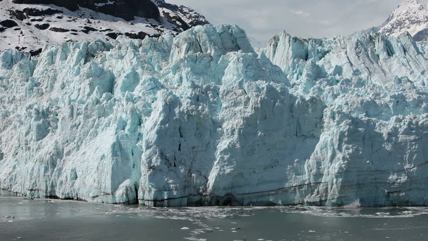 Margerie Glacier tidewater calving Glacier Bay slow motion. 21 mile long and a mile wide tide water glacier in National Park, Alaska.  One of the most active glacier for Calving. Geology environment. | Shutterstock HD Video #4301657