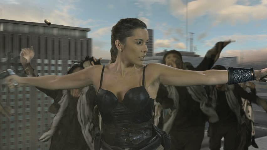 Zombie killer in the city | Shutterstock HD Video #4328063