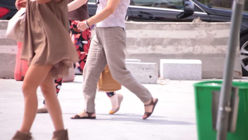 Action Voyeur women walking in the street crazy, hot