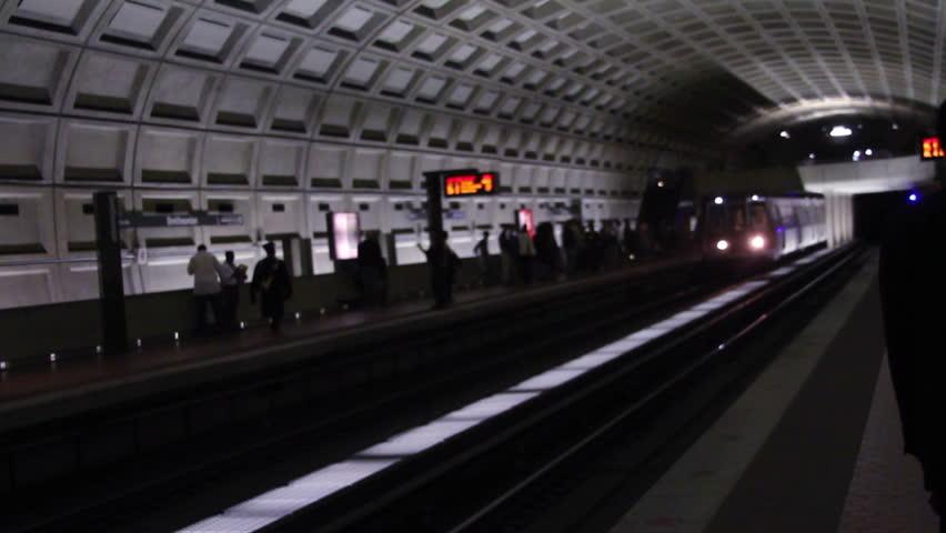 DC Metro Subway Train - HD stock footage clip
