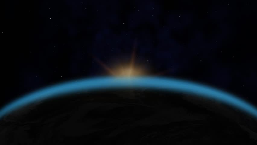 sunrise from space hd - photo #14