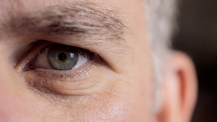 Close up of middle aged man's face