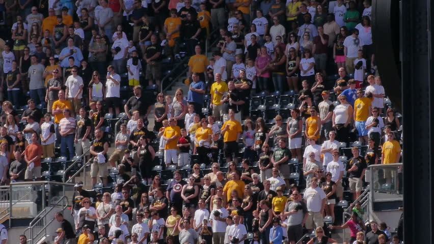 PITTSBURGH, PA, Circa August, 2013 - Fans stand for the National Anthem at a