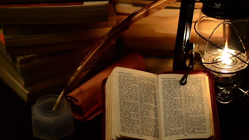 lamp and bible - photo #8