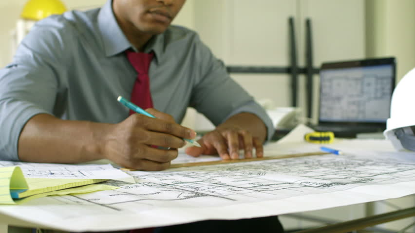 Architectural Drawings Are The Focus With A Hardworking ...