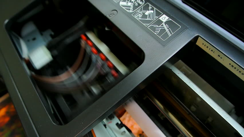 Inkjet printer prints the big picture - HD stock footage clip