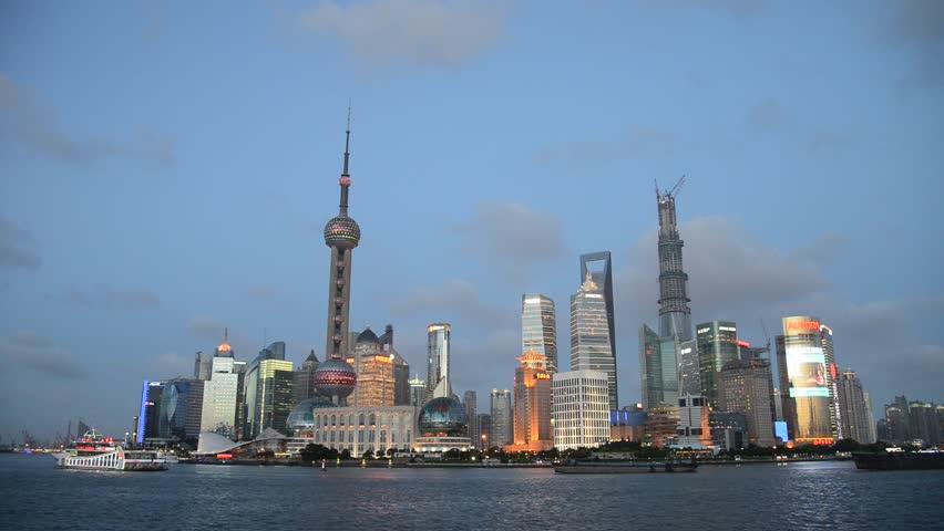 modern building scene of shanghai