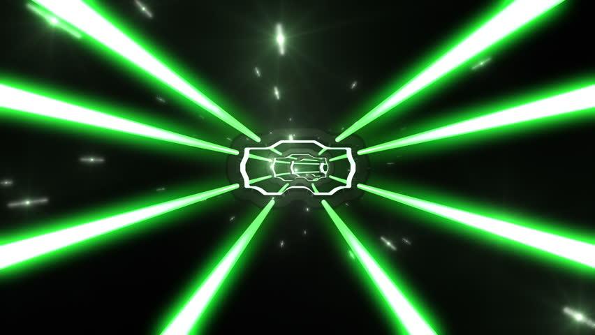Tunnel Tube Metal SF. - HD stock video clip