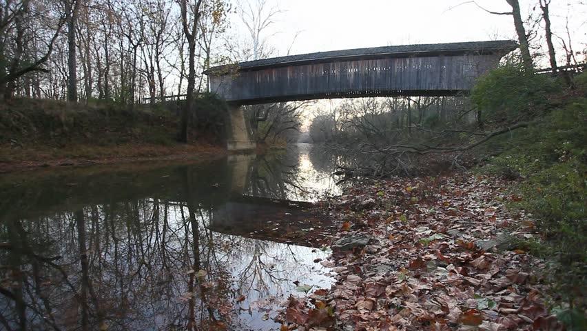 Colville Covered Bridge, Kentucky - HD stock footage clip