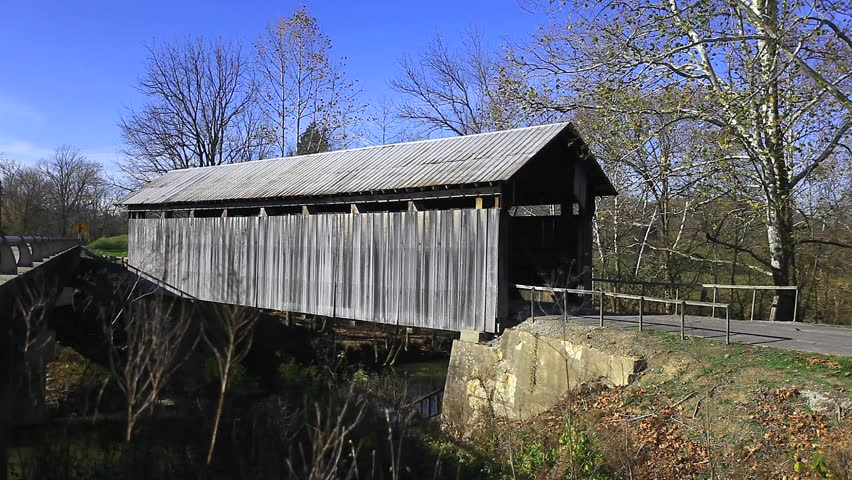 Ringos Mill Covered Bridge, Kentucky - HD stock footage clip