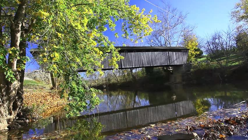 Switzer Covered Bridge, Kentucky - HD stock video clip