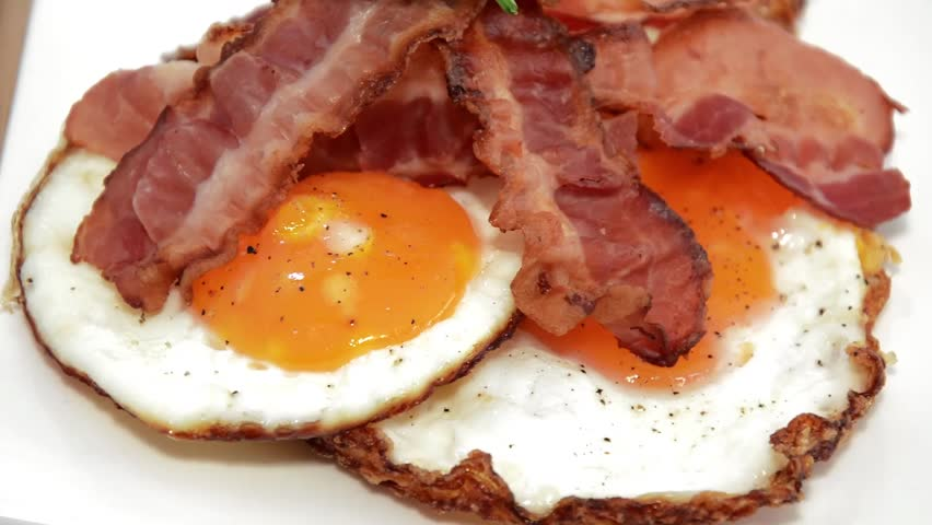 Fried Eggs And Bacon Stock Footage Video 4505834 ...