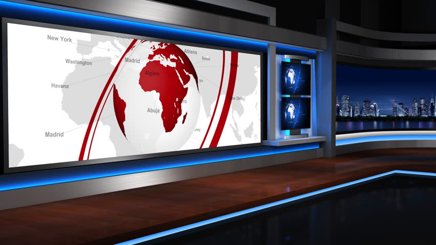The background of the virtual studio | Shutterstock HD Video #4506461
