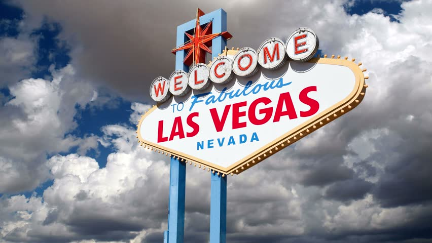 Welcome to fabulous Las Vegas sign with moving clouds time lapse. | Shutterstock HD Video #4523885