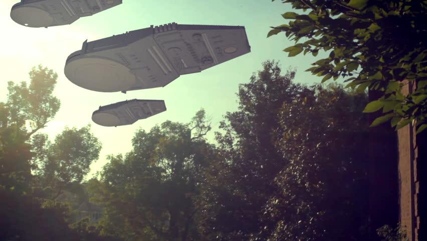 Giant alien ships in the sky