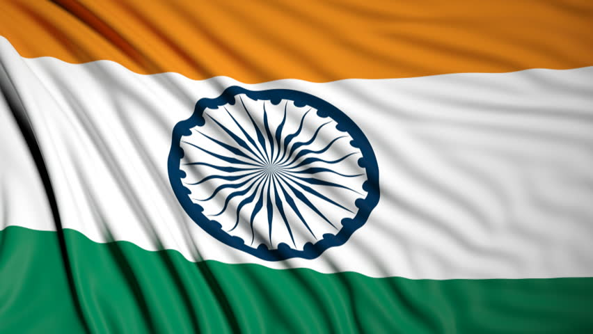 Indian Animated Flag Waving: India Flag Waving Stock Footage Video 4537619