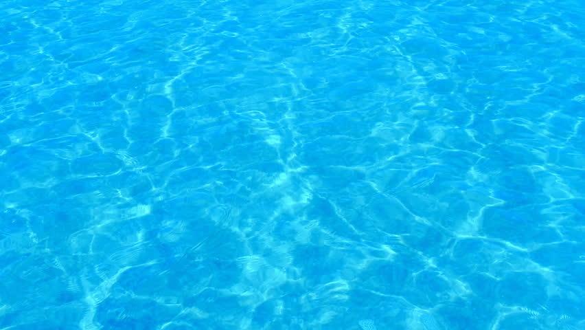 Beautiful refreshing blue swimming pool water - HD stock video clip
